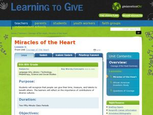Miracles of the Heart Lesson Plan