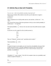 Misconceptions in Mathematics: Misconception 21 Worksheet