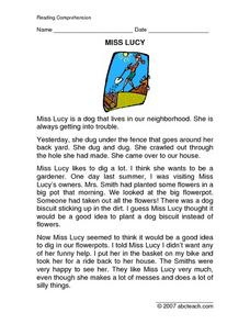 Miss Lucy Worksheet