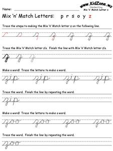 Mix n' Match Letter z Worksheet