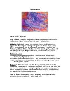 Mixed Media Lesson Plan