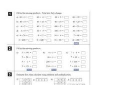 Mixed Multiplication Review Worksheet