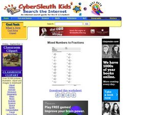 Mixed Numbers to Fractions 5 Lesson Plan