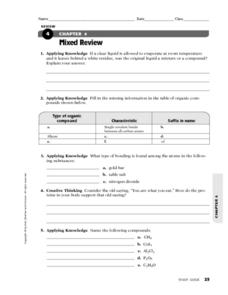Mixed Review Worksheet