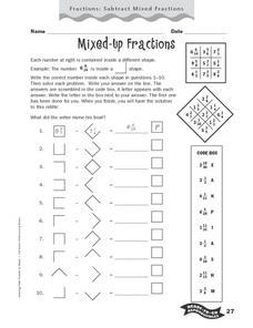 Mixed-Up Fractions Worksheet