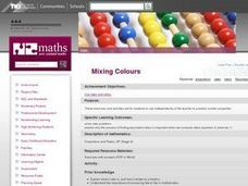 Mixing Colours Lesson Plan