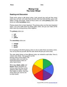 Mixing It Up: The Color Wheel Worksheet