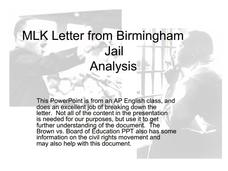 letter from birmingham jail analysis mlk letter from birmingham analysis 11th 12th grade 39855