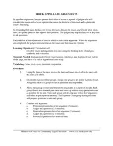 Mock Appellate Arguments Lesson Plan