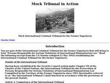 Mock Tribunal in Action Lesson Plan