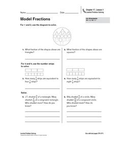Model Fractions Worksheet
