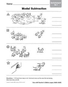 Model Subtraction: Enrichment Worksheet