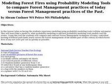 Modeling Forest Fires Using Probability Lesson Plan