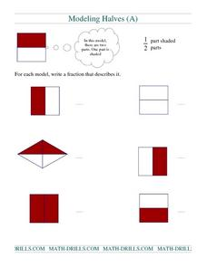 Modeling Halves (A) Worksheet