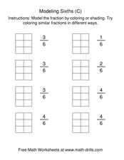 Modeling Sixths (C) Worksheet