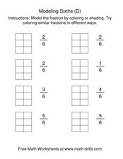 Modeling Sixths (D) Worksheet