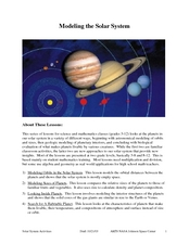 Modeling the Solar System Lesson Plan