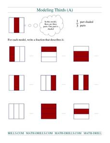Modeling Thirds (A) Worksheet