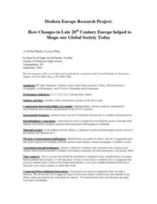 Modern Europe Research Project: How Changes in Late 20th Century Europe Helped To Shape Our Global Society Today Activities & Project