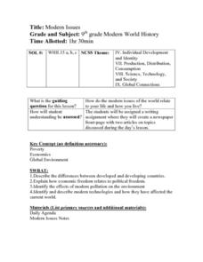 Modern Issues Lesson Plan