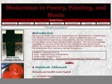 Modernism in Poetry, Painting, and Music Lesson Plan
