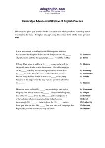 Modifying Words Worksheet