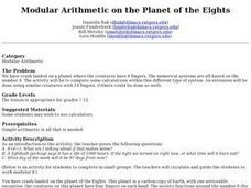 Modular Arithmetic on the Planet of the Eights Lesson Plan