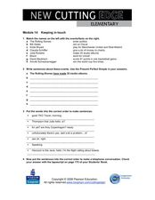 Module 14 Keeping In Touch Worksheet