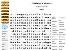 Module 9 Metals Worksheet