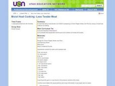 Moist Heat Cooking - Less Tender Meat Lesson Plan