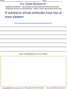Molecules Research Question Worksheet