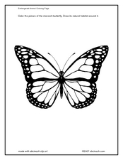 Monarch Butterfly Coloring Page Lesson Plan