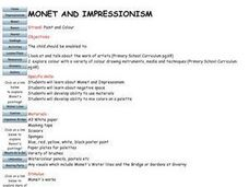 Monet And Impressionism Lesson Plan
