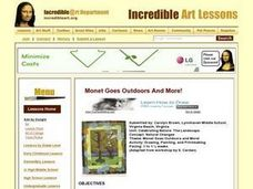 Monet Goes  Outdoors Lesson Plan