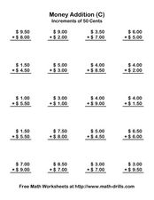 Money Addition (C) Worksheet