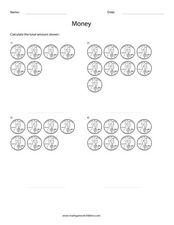Money Addition Worksheet