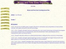 Money and Time Zone Traveling Lesson Plan Lesson Plan