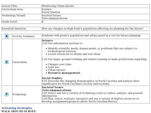 Monitoring Urban Sprawl Lesson Plan