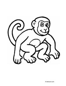 Monkey Color Sheet Worksheet