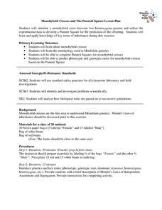 Worksheets Monohybrid And Dihybrid Crosses Worksheet monohybrid cross lesson plans worksheets reviewed by teachers crosses and the punnett square plan