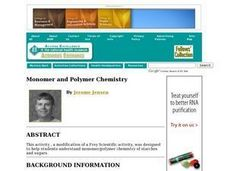 Monomer and Polymer Chemistry Lesson Plan