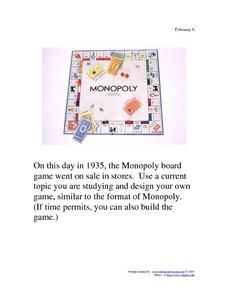 Monopoly: February 6, 1935 Worksheet