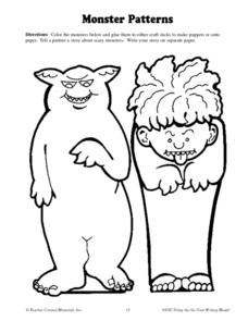 Monster Patterns Worksheet