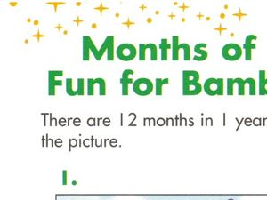 Months of Fun for Bambi Worksheet