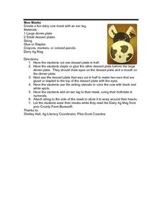 Moo Masks Lesson Plan