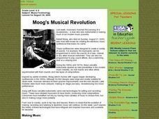 Moog's Musical Revolution Lesson Plan