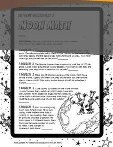 Moon Math Worksheet