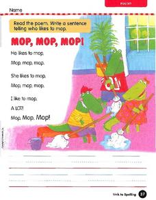 Mop, Mop, Mop! Worksheet