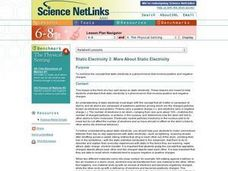 More About Static Electricity Lesson Plan
