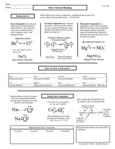 Printables High School Chemistry Worksheets chemical bonds worksheet high school intrepidpath more bonding 9th 12th grade lesson pla